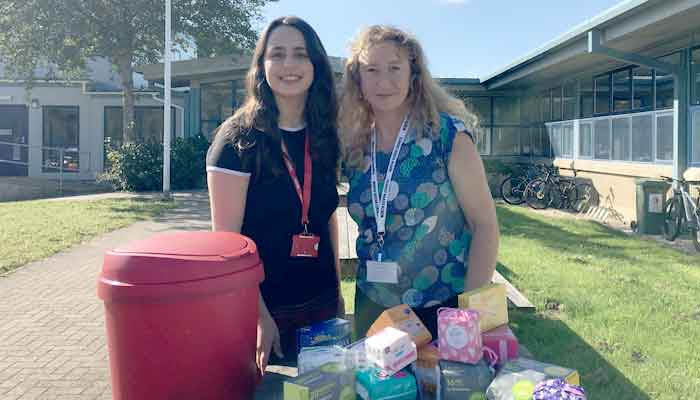 Cllr Caroline Leaver with Red-Box project co-ordinator Jody Rogers.