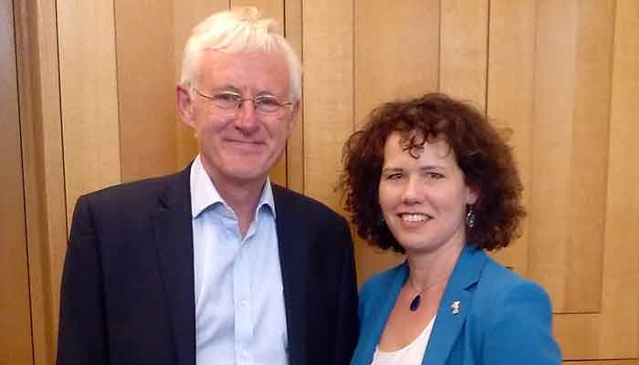 Dr Kirsten Johnson with former Lib Dem health minister Norman Lamb