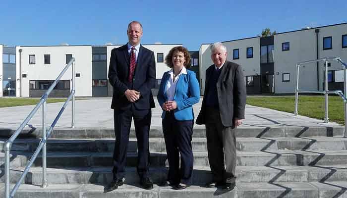 Kirsten Johnson, Headmaster Mike Johnson and Cllr David Worden at Chulmleigh Community College