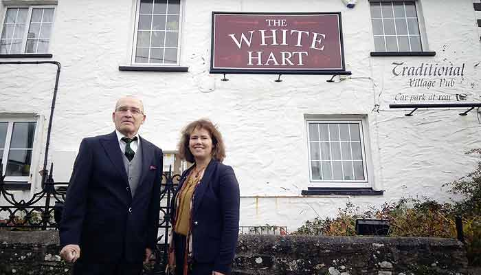 Kirsten Johnson and Alan Rennles at the White Hart, Bratton Flemming