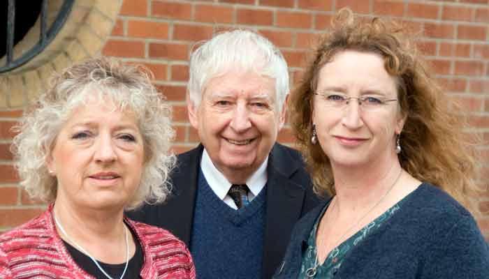 Cllrs Joy Cann and Caroline Leaver with NDDC Lib Dem leader Cllr David Worden