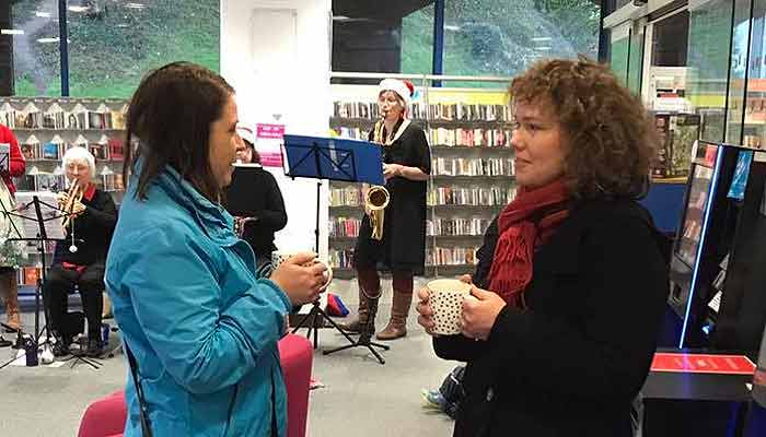 Kirsten Johnson at the Friends of Barnstaple Library coffee morning