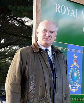 Sir NIck Harvey campaigning at Chivenor