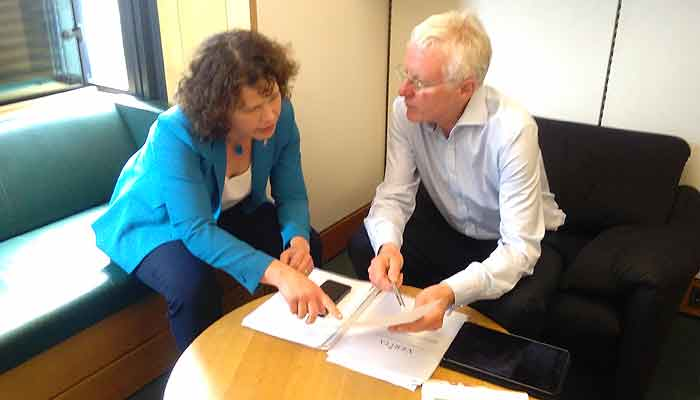 Kirsten Johnson with former Minister or State in the Department of Health, Norman Lamb
