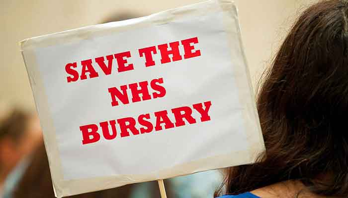 Save the NHS bursary placard