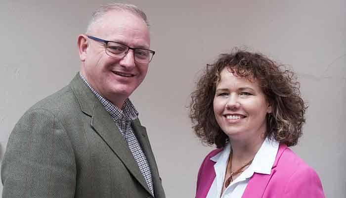 Kirsten Johnson and Iaan Roome