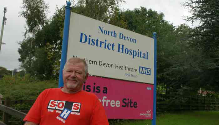 Cllr Ian Williams at NDDH