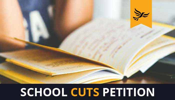 Stop the school cuts: Sign our petition
