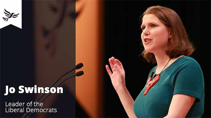 Jo Swinson MP - new leader of the Liberal Democrats