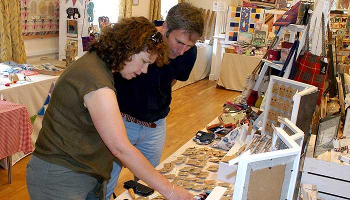 Kirsten Johnson and husband Jonathan at Lee Village Arts & Crafts Fair