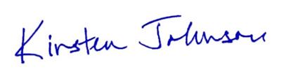 Kirsten Johnson Signature