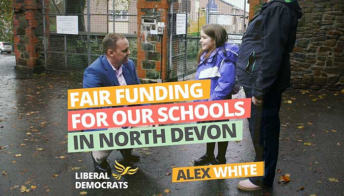 Lib Dems will reverse school cuts in North Devon