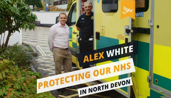 Alex White at NDGH A&E ambulance park