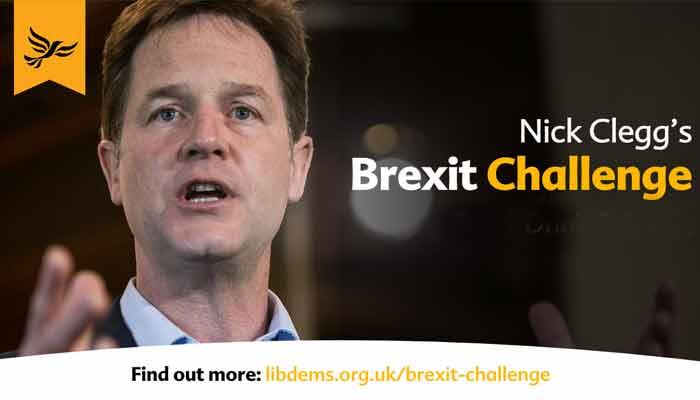 Nick Clegg's Brexit Challenge