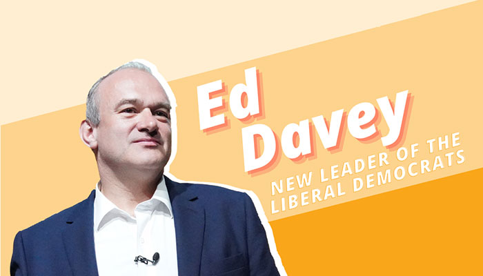 Ed Davey - new leader of the Lib Dems national party
