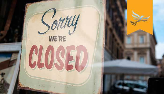 Image of 'Sorry We're Closed' shop sign