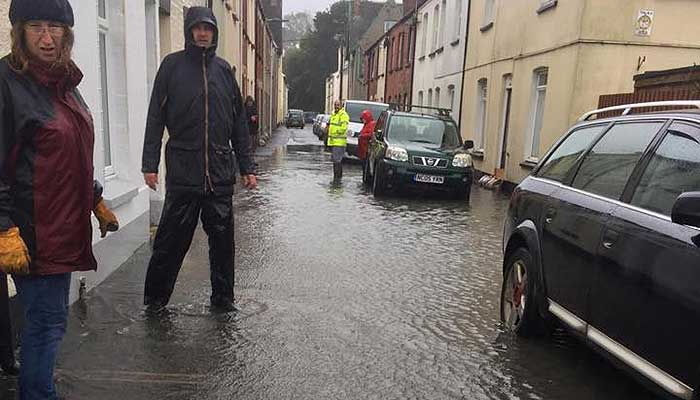 Image of street flooding in Barnstaple