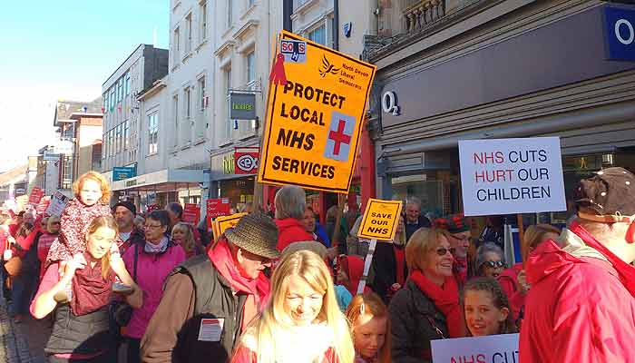 SOHS protest march in Barnstaple
