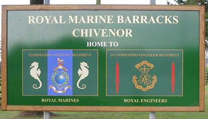 RMB Chivenor Entrance Sign