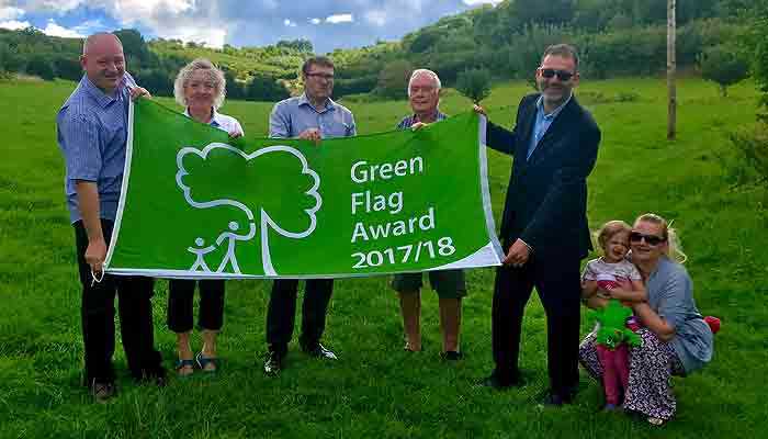 Green Falg Award for Yeo Valley Community Woodland