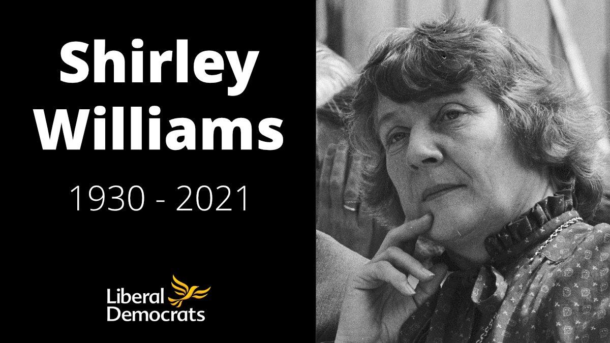 Shirley Williams 1930 - 2021