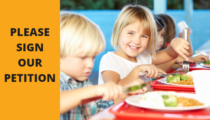 Support our call for County Council to provide free school meals during holidays