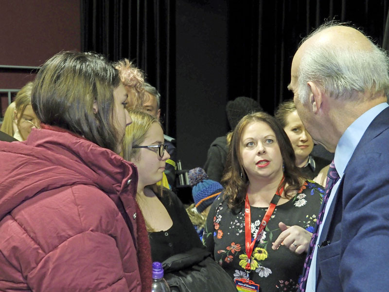Vince Cable meets students and staff of Paston College