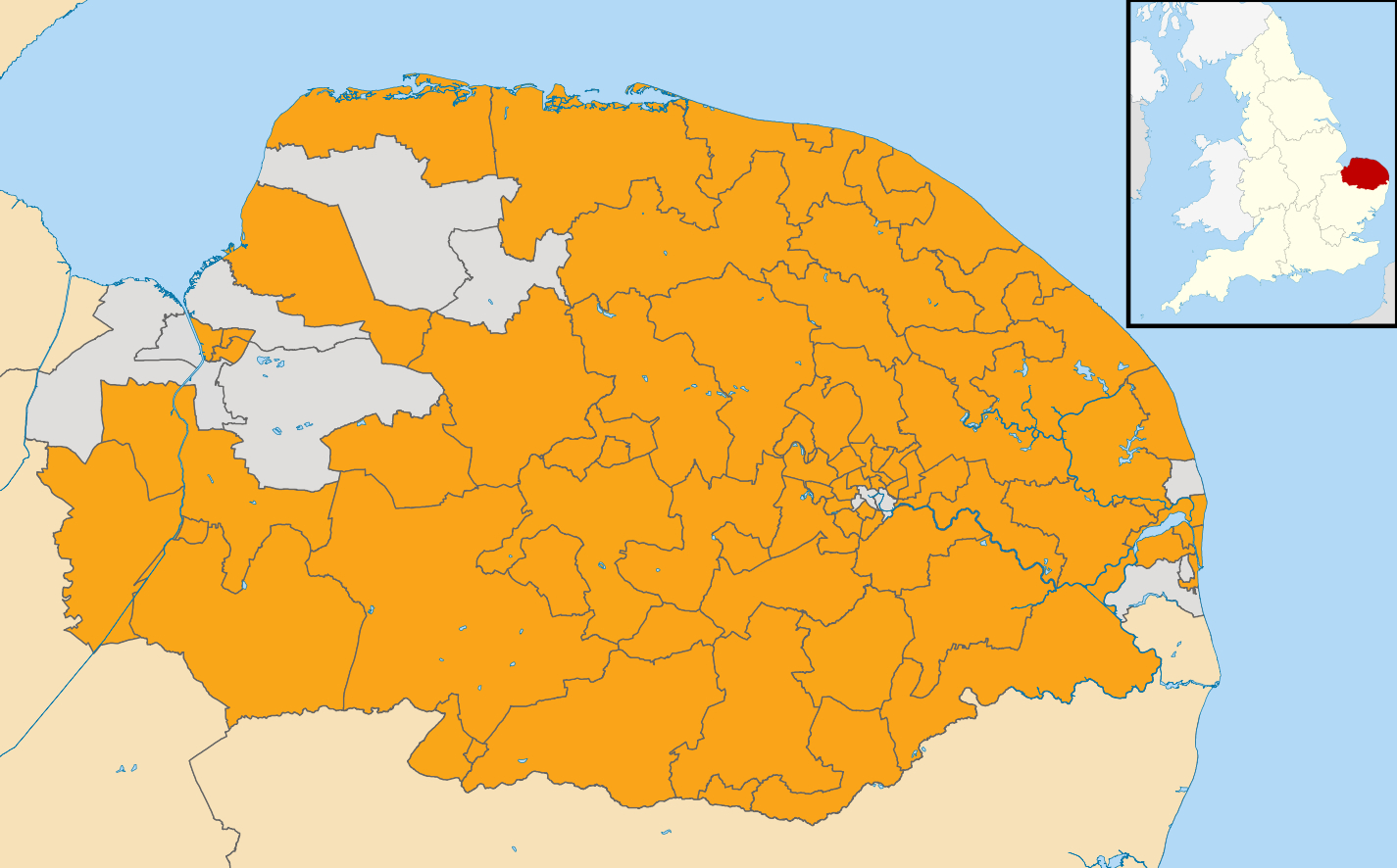 Map showing areas where Liberal Democrats are fielding candidates