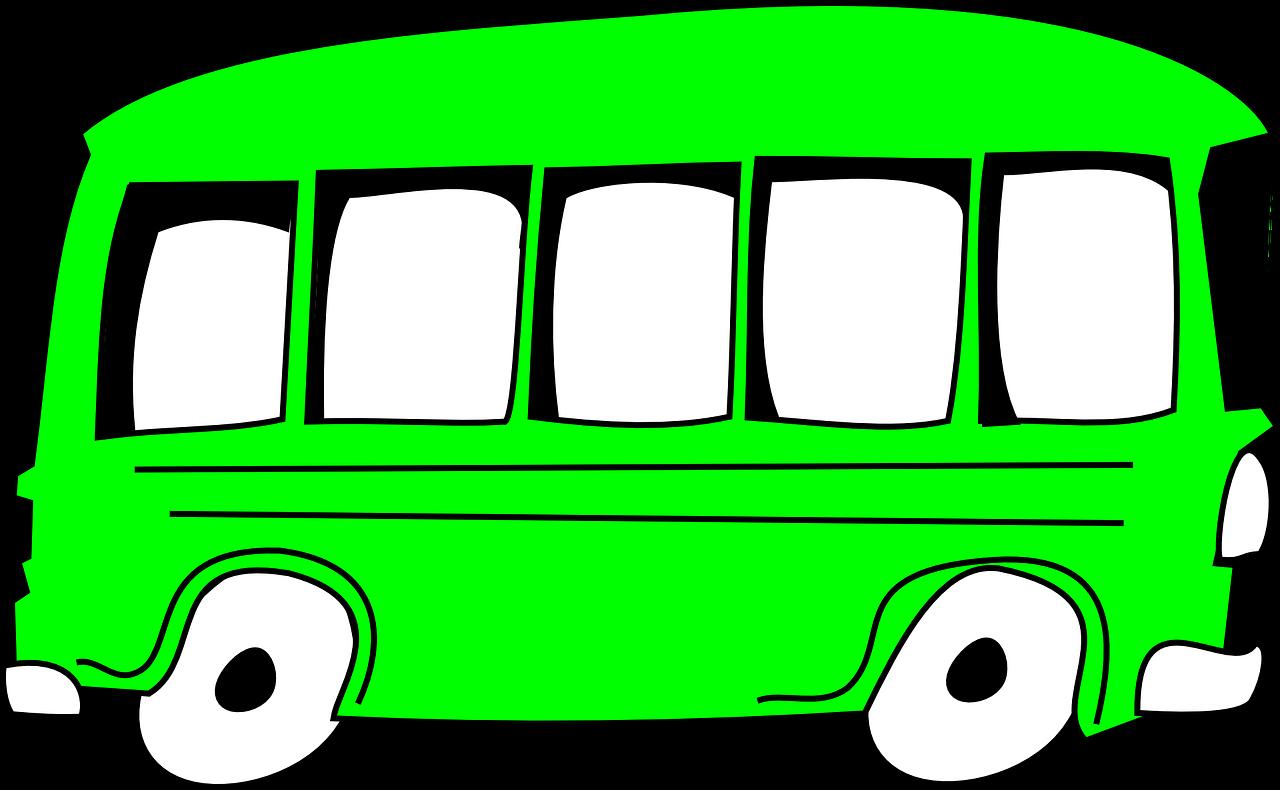 cartoon green bus