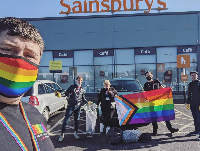 North Somerset LGBT Forum tidying up Portishead