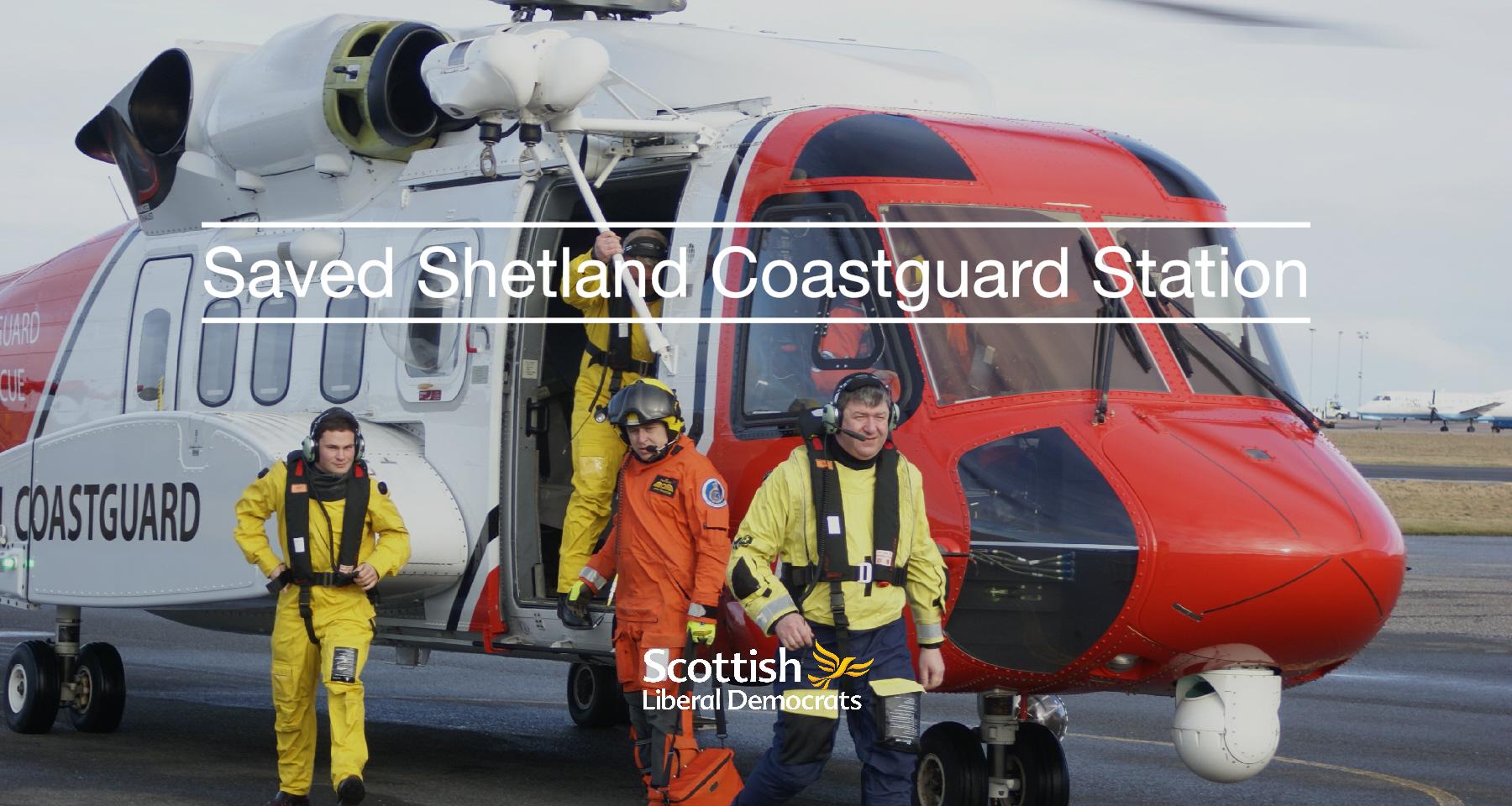 Saved Shetland Coastguard Station