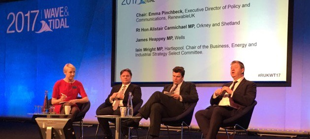 """""""Industrial Strategy may offer way ahead for renewable energy"""" Carmichael tells Wave and Tidal Conference"""