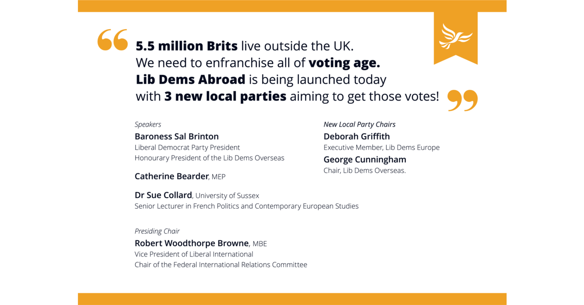 Lib Dems Overseas officially launching at Autumn Conference!