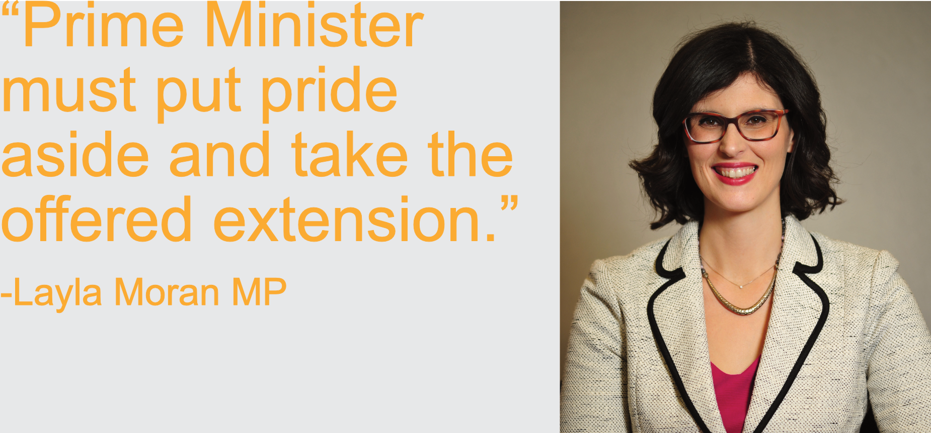 PM must put pride aside and take the offered extension