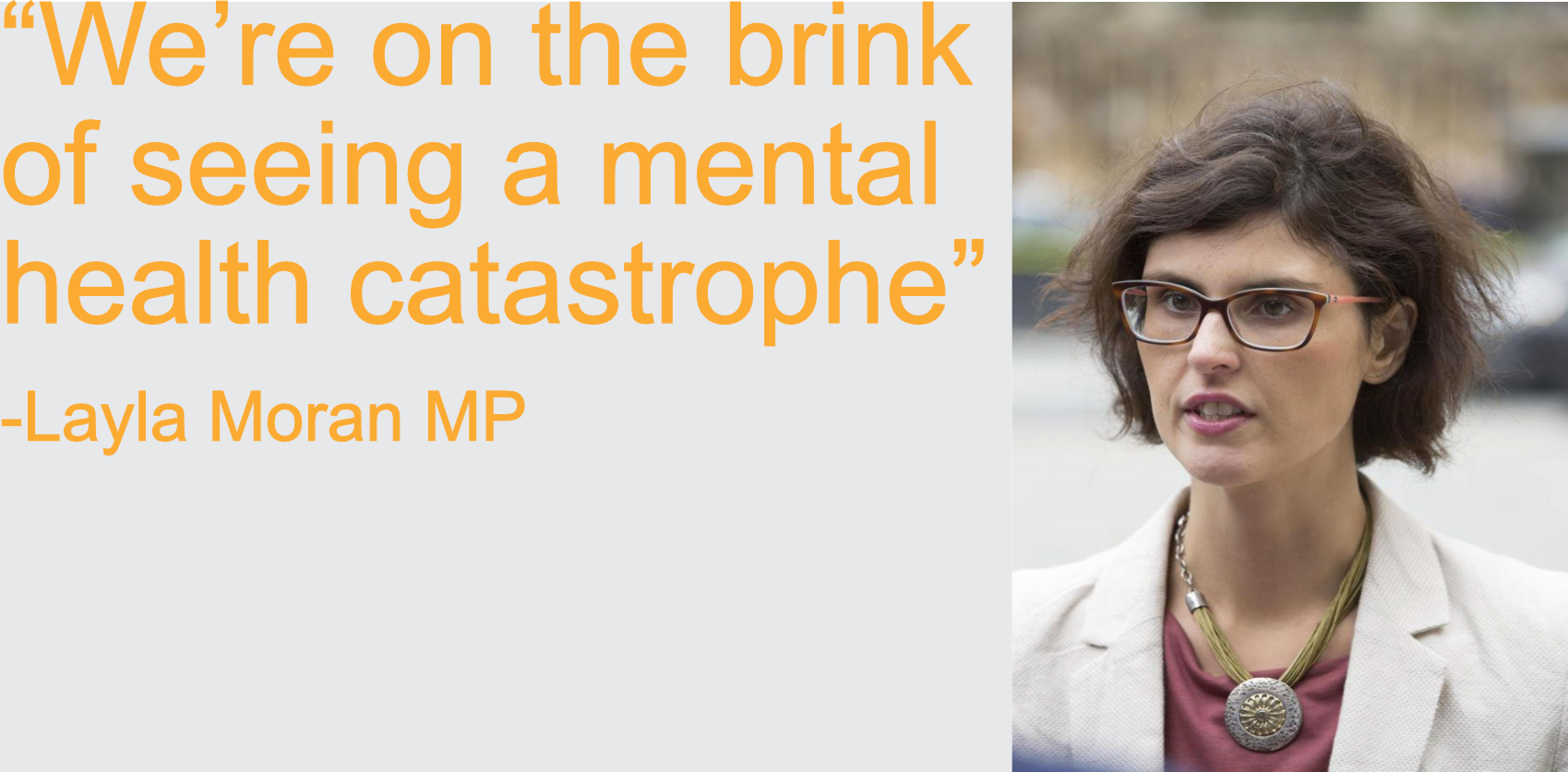 """We're on the brink of seeing a mental health catastrophe"""