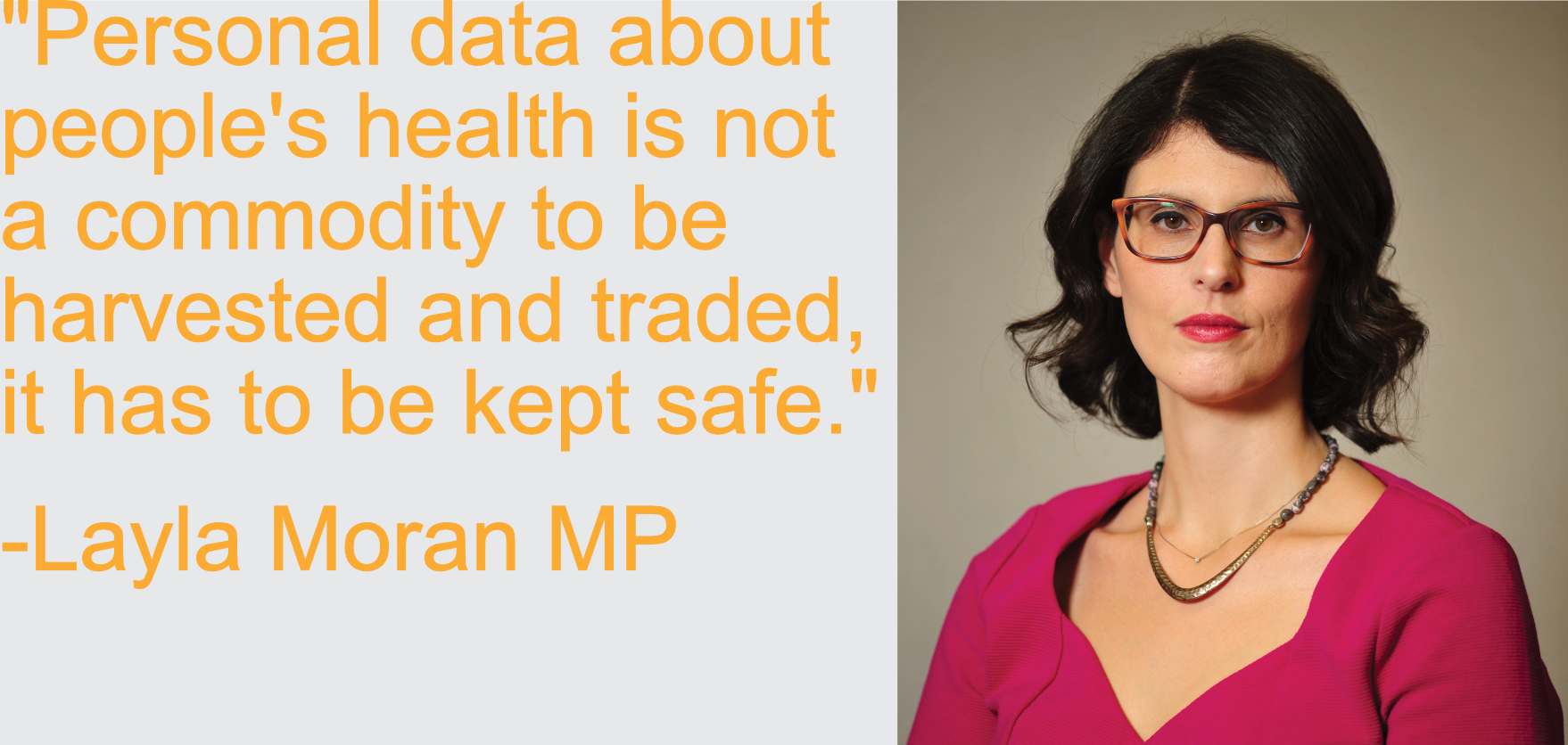Personal data about people's health is not a commodity to be harvested and traded, it has to be kept safe
