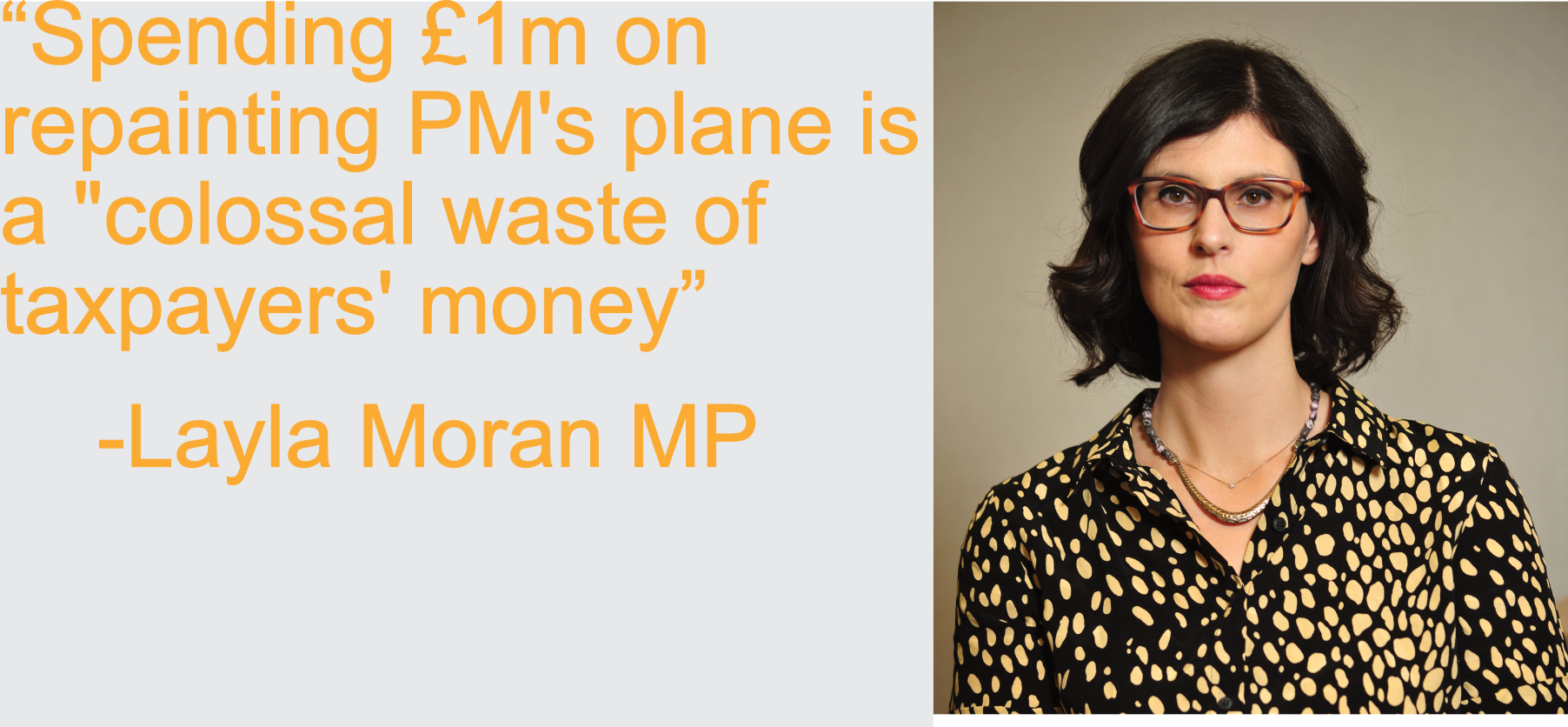 "Spending £1m on repainting PM's plane is a ""colossal waste of taxpayers' money'"