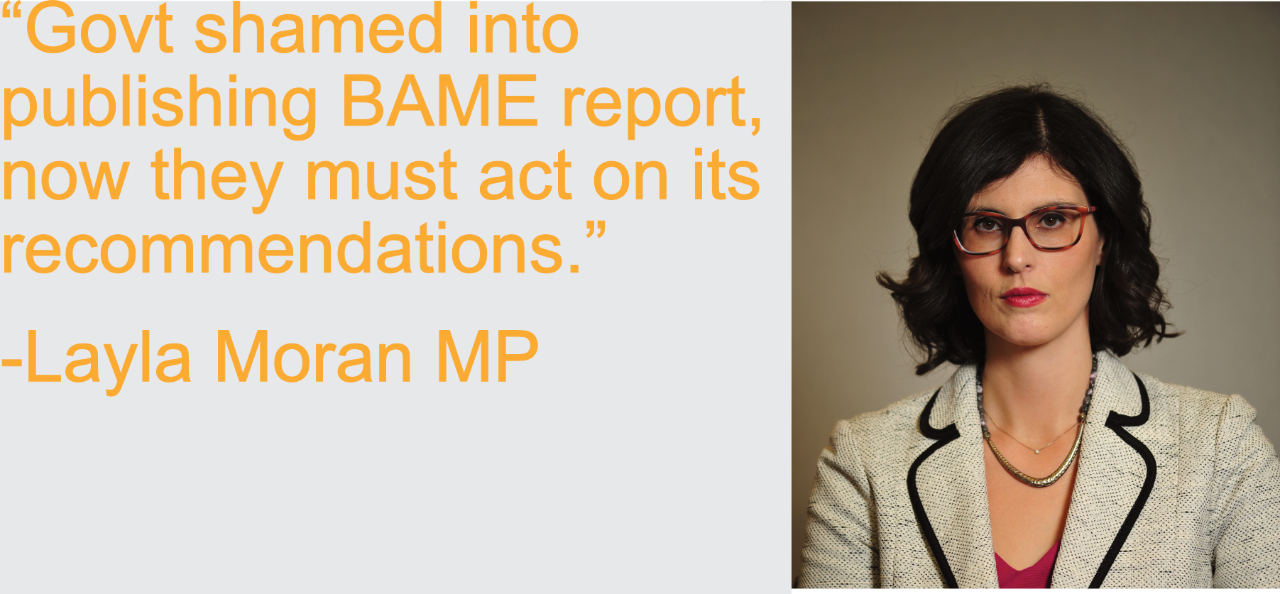 Govt shamed into publishing BAME report, now they must act on its recommendations - Layla Moran MP