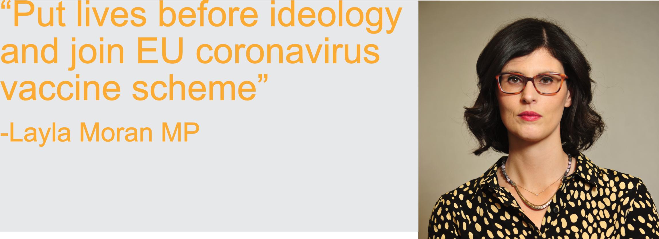 put lives before ideology and join EU coronavirus vaccine scheme