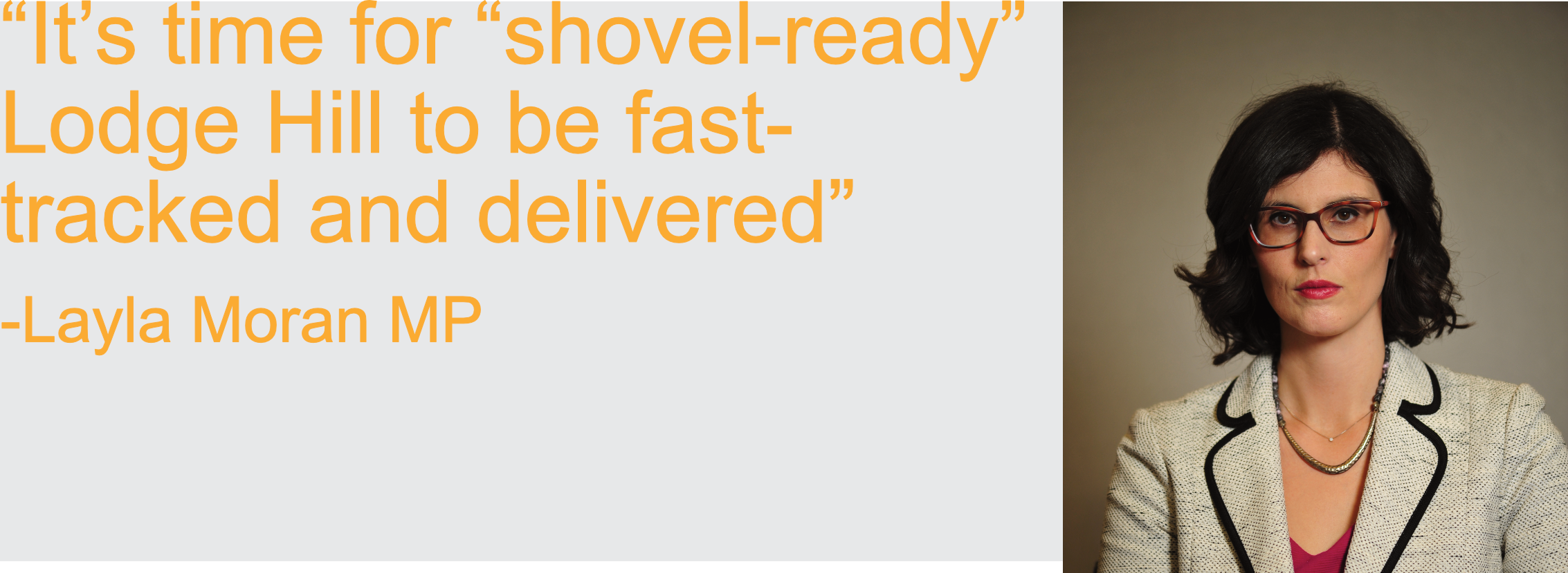 """It's time for """"shovel-ready"""" Lodge Hill to be fast-tracked and delivered"""