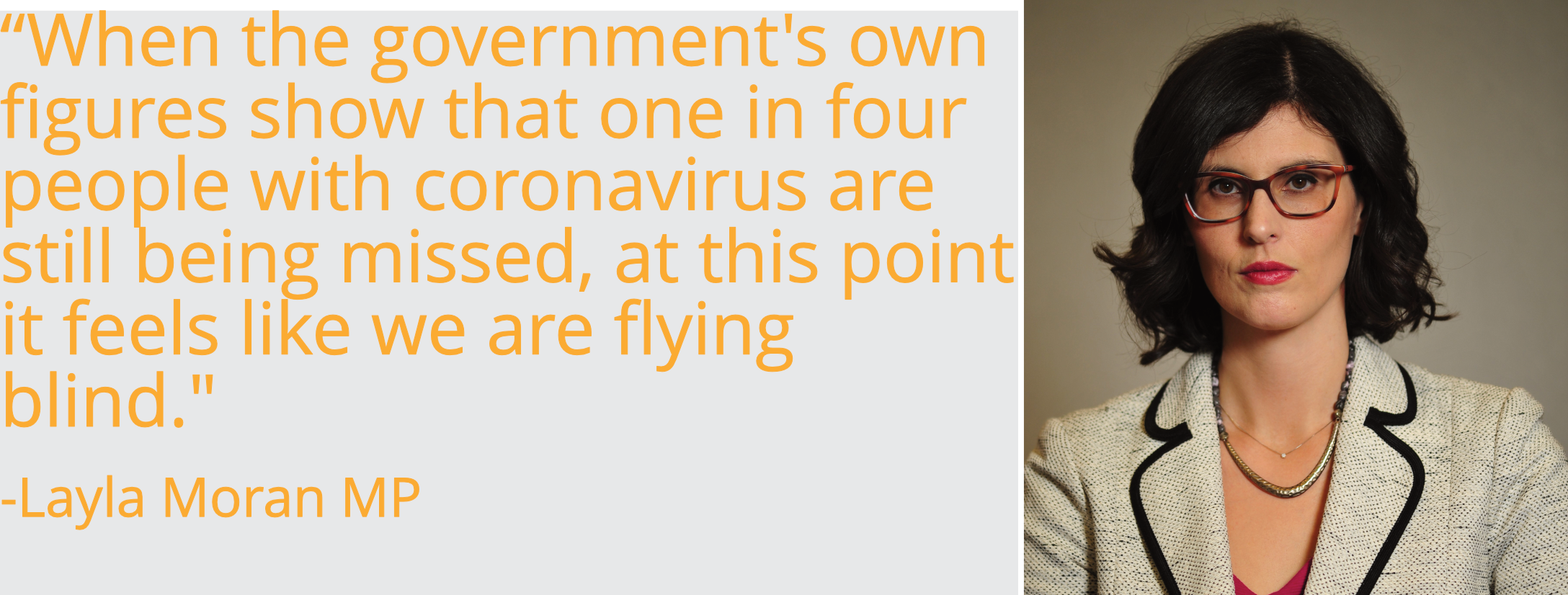 When the government's own figures show that one in four people with coronavirus are still being missed, at this point it feels like we are flying blind.