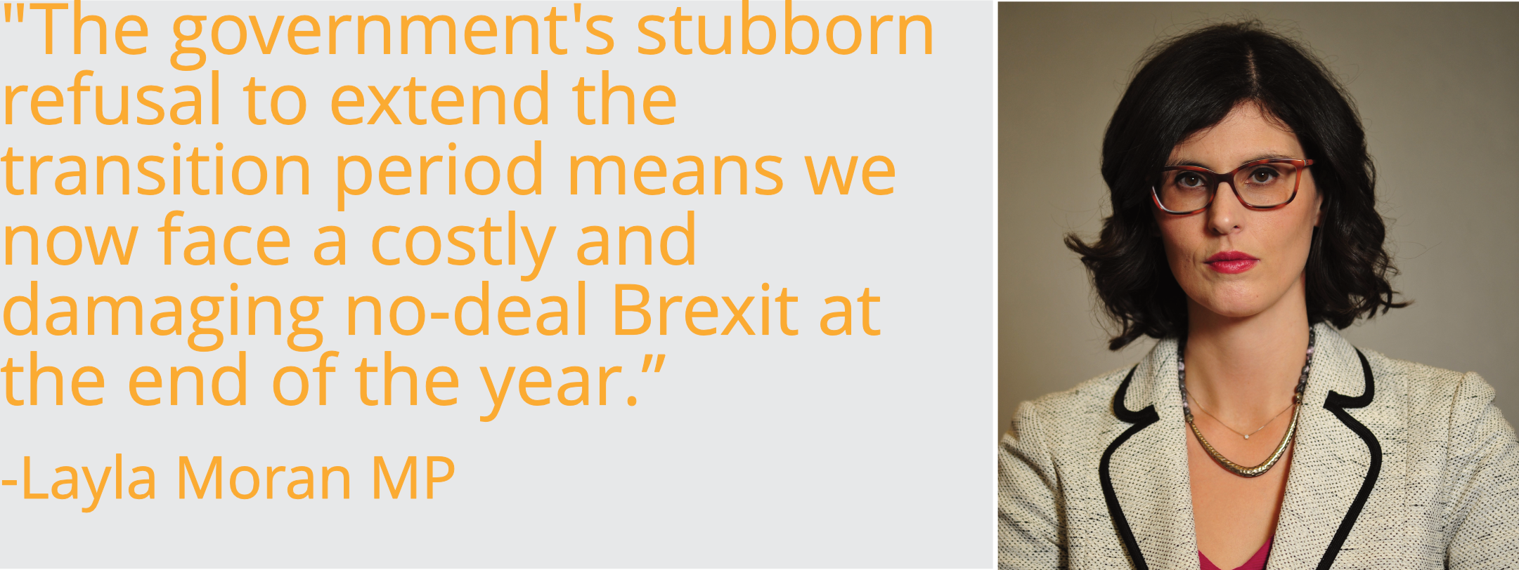 """The government's stubborn refusal to extend the transition period means we now face a costly and damaging no-deal Brexit at the end of the year."