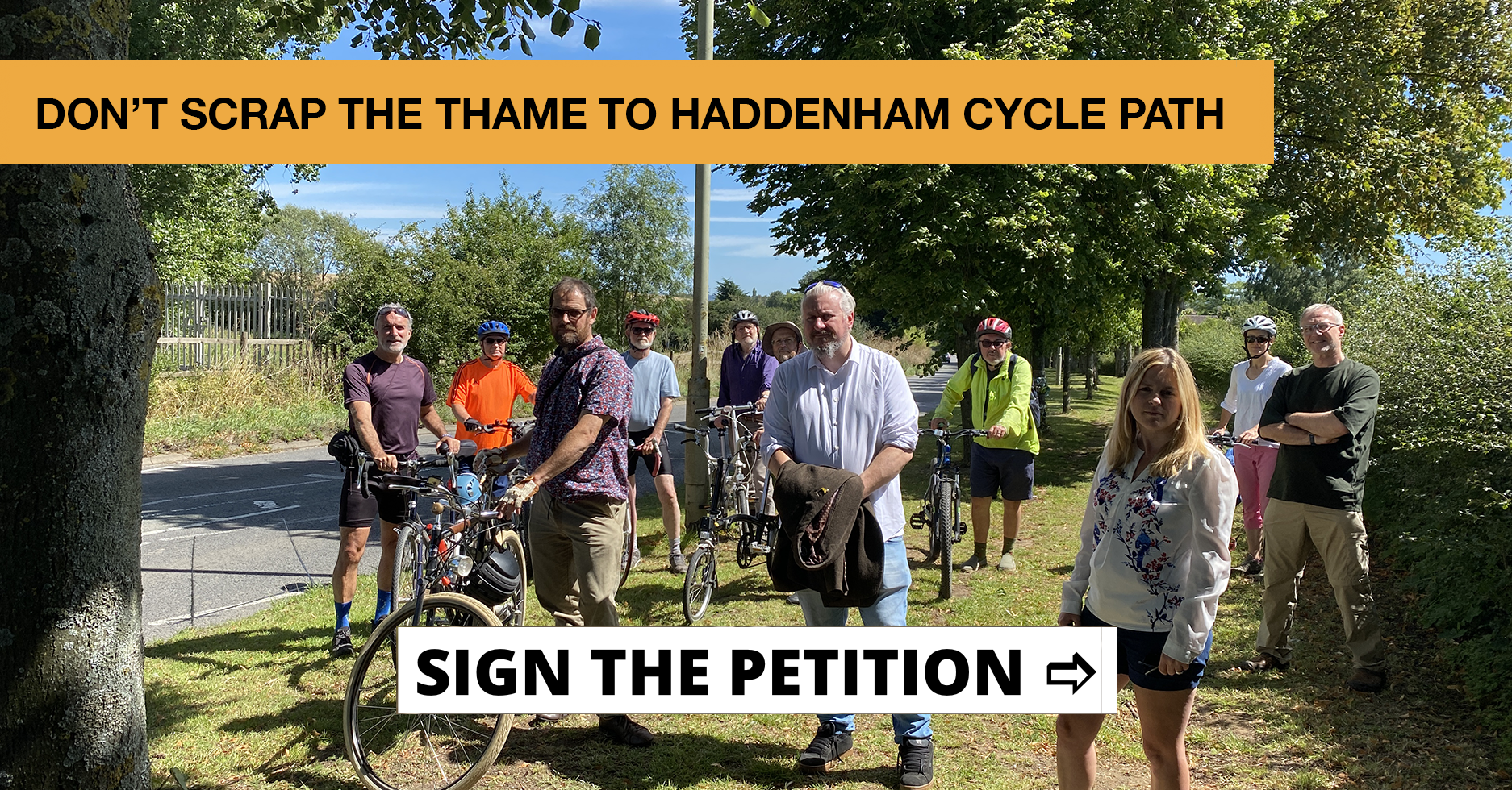 Don't scrap the Thame to Haddenham Cycle Path 🚲