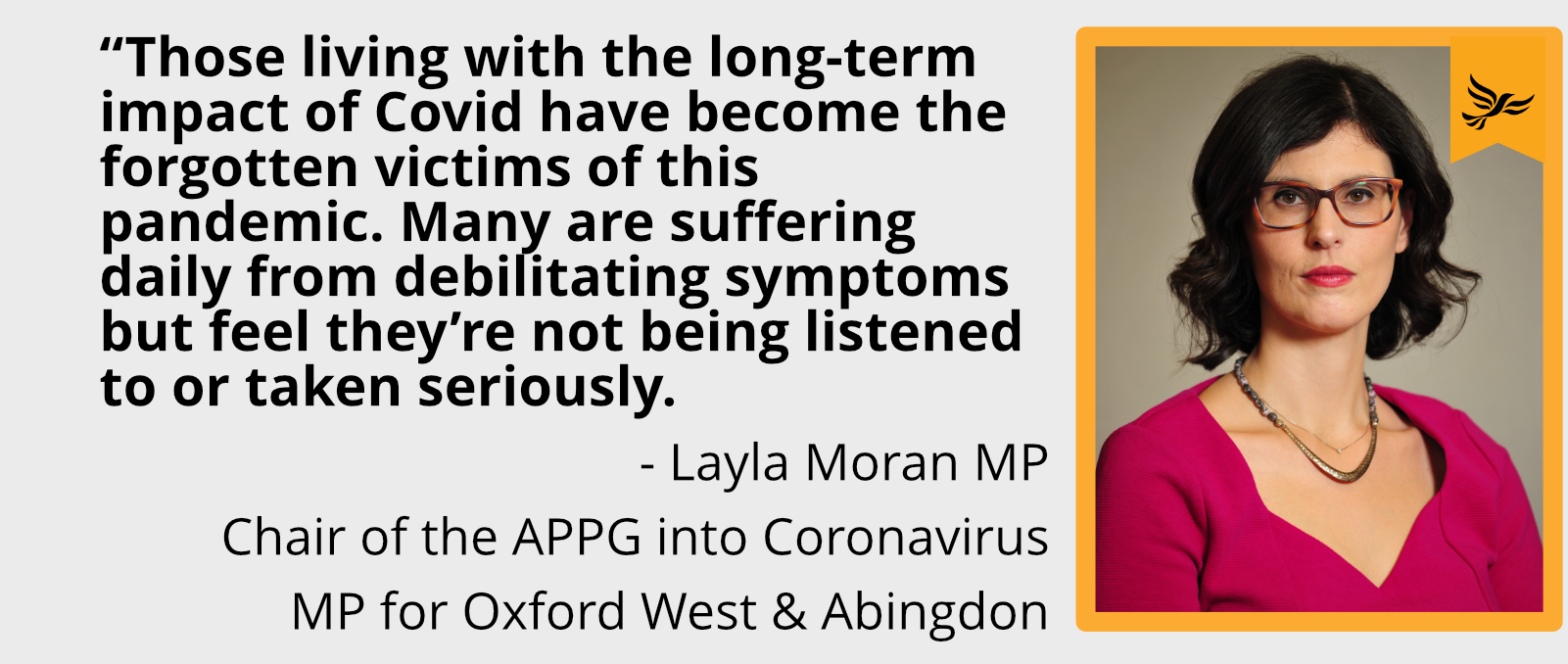 """Those living with the long-term impact of Covid have become the forgotten victims of this pandemic. Many are suffering daily from debilitating symptoms but feel they're not being listened to or taken seriously."