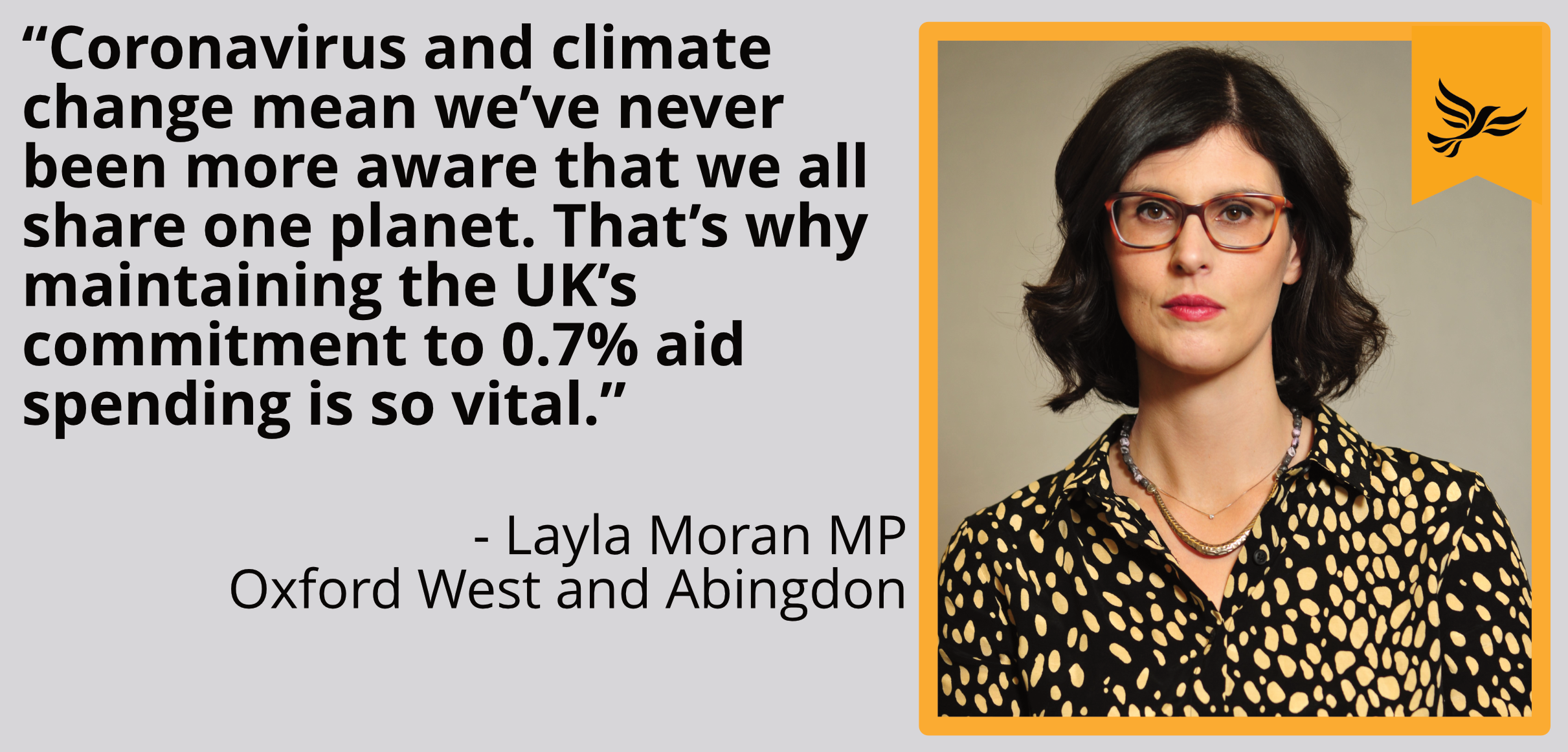 Coronavirus and climate change mean we've never been more aware that we all share one planet. That's why maintaining the UK's commitment to 0.7% aid spending is so vital