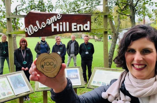 Layla Moran MP visits Hill End  (photo copyright Layla Moran and Oxfordshire Liberal Democrats)