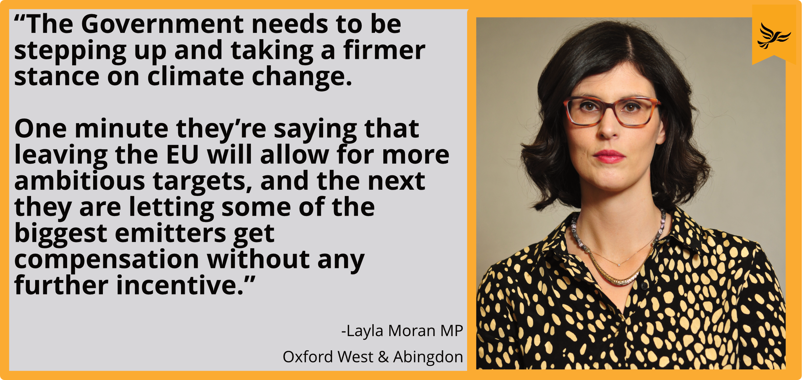 """The Government needs to be stepping up and taking a firmer stance on climate change. One minute they're saying that leaving the EU will allow for more ambitious targets, and the next they are letting some of the biggest emitters get compensation without any further incentive."