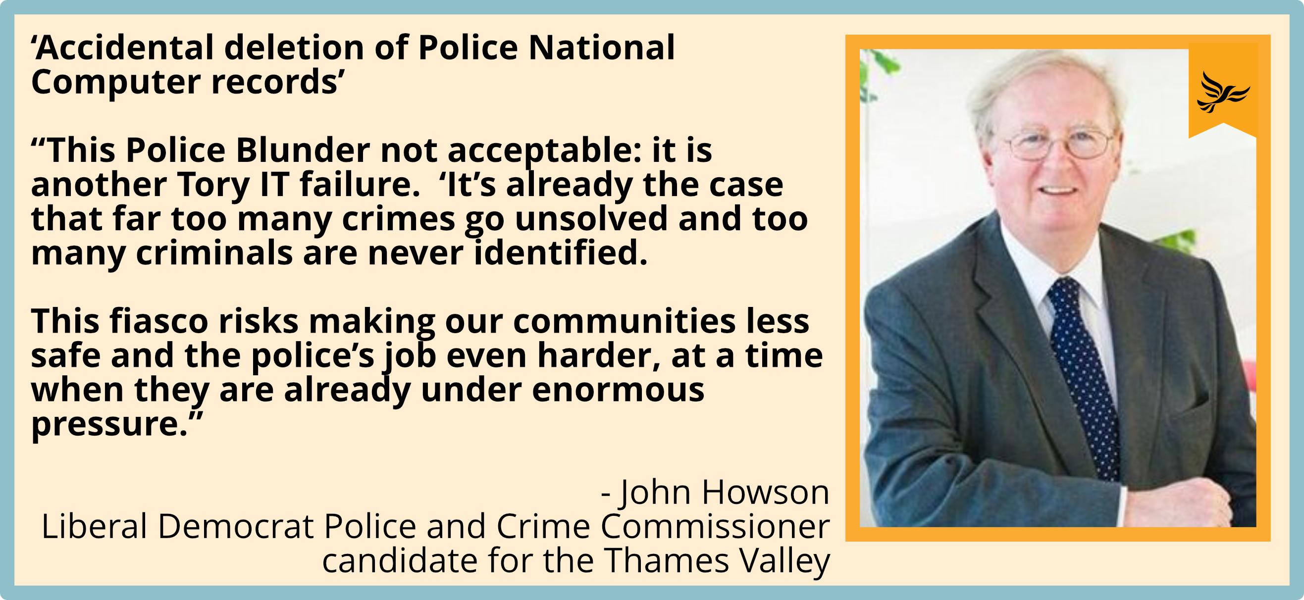 'It's already the case that far too many crimes go unsolved and too many criminals are never identified. This fiasco risks making our communities less safe and the police's job even harder, at a time when they are already under enormous pressure.'