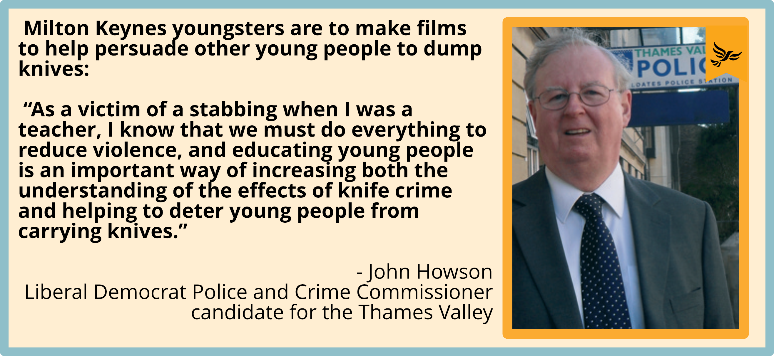Milton Keynes youngsters are to make films to help persuade other young people to dump knives