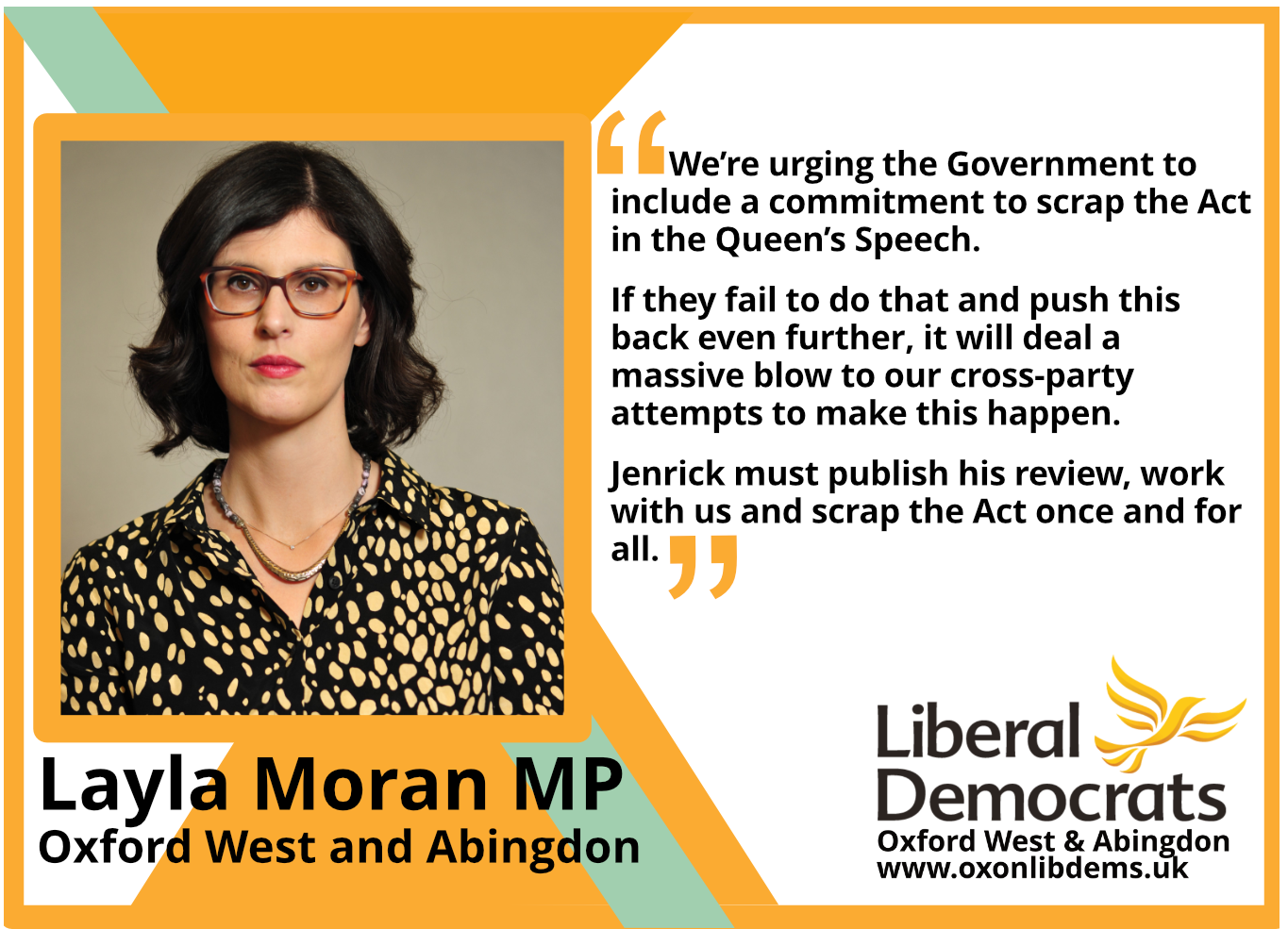 We're urging the Government to include a commitment to scrap the Act in the Queen's Speech. If they fail to do that and push this back even further, it will deal a massive blow to our cross-party attempts to make this happen. Jenrick must publish his review, work with us and scrap the Act once and for all